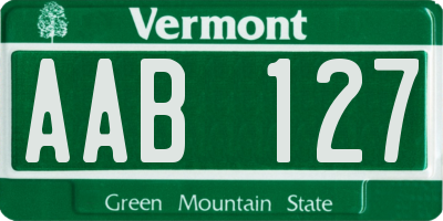 VT license plate AAB127