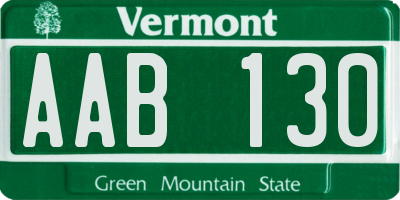VT license plate AAB130