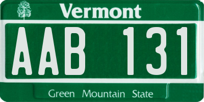 VT license plate AAB131
