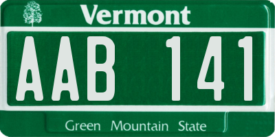 VT license plate AAB141