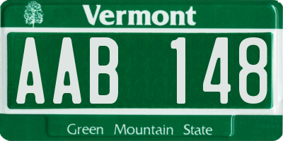 VT license plate AAB148