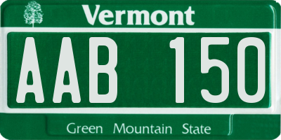 VT license plate AAB150