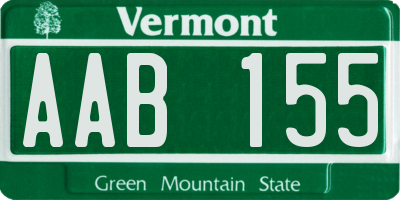 VT license plate AAB155