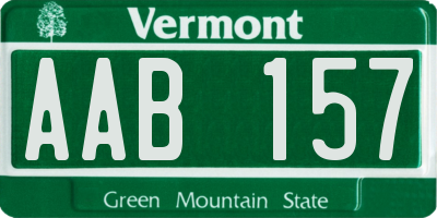 VT license plate AAB157