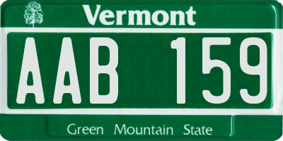 VT license plate AAB159