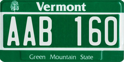 VT license plate AAB160