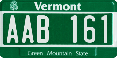 VT license plate AAB161