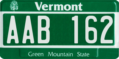 VT license plate AAB162
