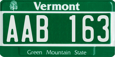VT license plate AAB163