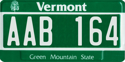 VT license plate AAB164
