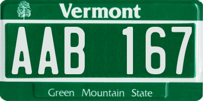 VT license plate AAB167