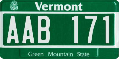 VT license plate AAB171