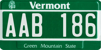 VT license plate AAB186