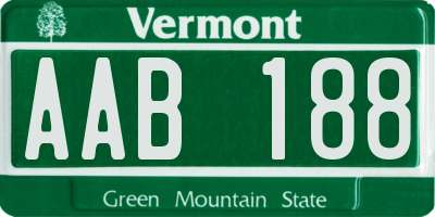 VT license plate AAB188