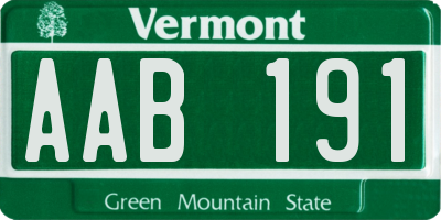 VT license plate AAB191