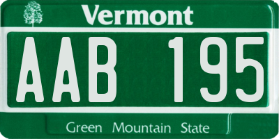 VT license plate AAB195