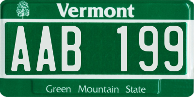 VT license plate AAB199