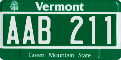 VT license plate AAB211