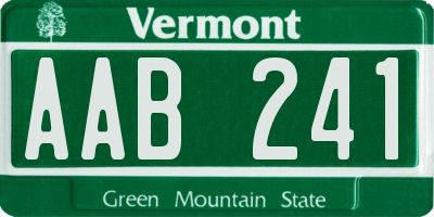 VT license plate AAB241