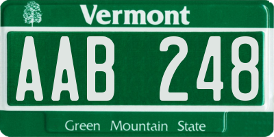 VT license plate AAB248