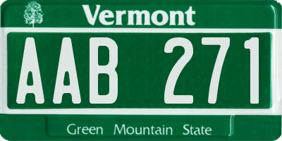 VT license plate AAB271