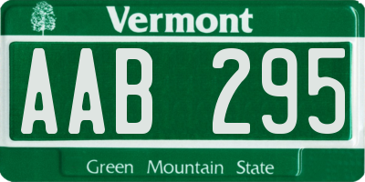 VT license plate AAB295