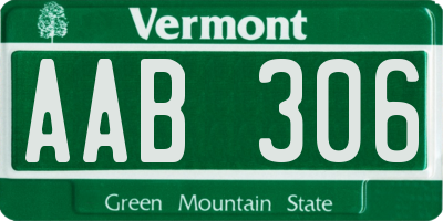 VT license plate AAB306