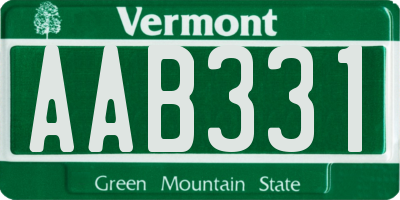 VT license plate AAB331
