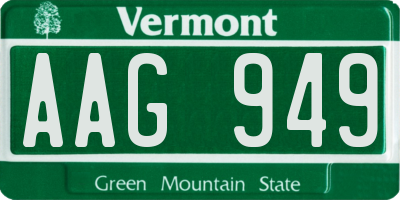 VT license plate AAG949