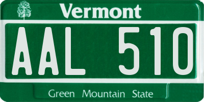 VT license plate AAL510
