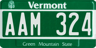 VT license plate AAM324