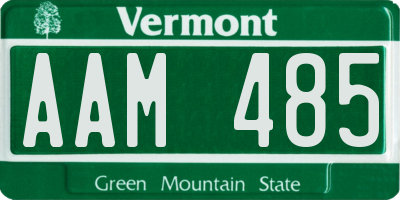 VT license plate AAM485