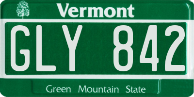 VT license plate GLY842