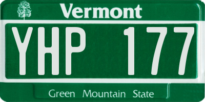 VT license plate YHP177
