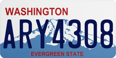 WA license plate ARY4308