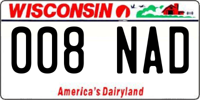 WI license plate 008NAD