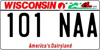 WI license plate 101NAA