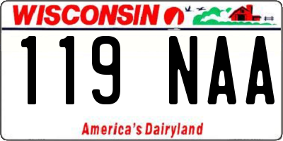 WI license plate 119NAA