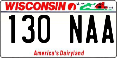 WI license plate 130NAA