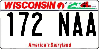 WI license plate 172NAA