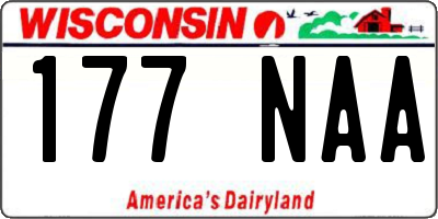WI license plate 177NAA
