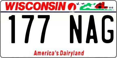 WI license plate 177NAG