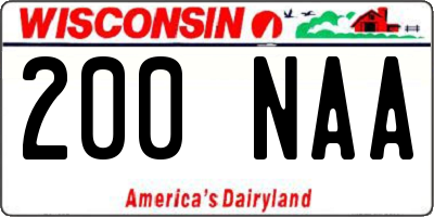 WI license plate 200NAA