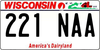 WI license plate 221NAA