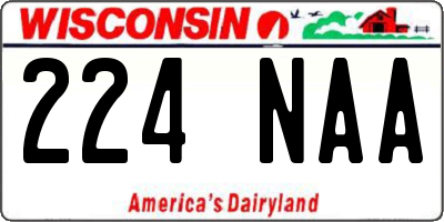 WI license plate 224NAA