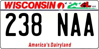 WI license plate 238NAA