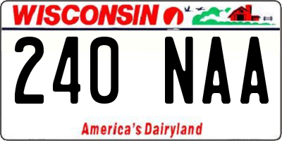 WI license plate 240NAA