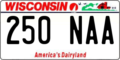 WI license plate 250NAA