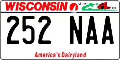 WI license plate 252NAA