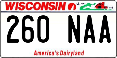 WI license plate 260NAA